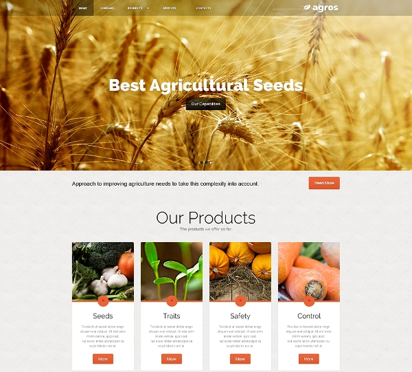 Agricultural Website Template
