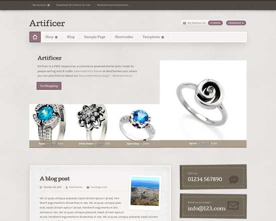 Artificer-FREE-Responsive-WooCommerce-Theme
