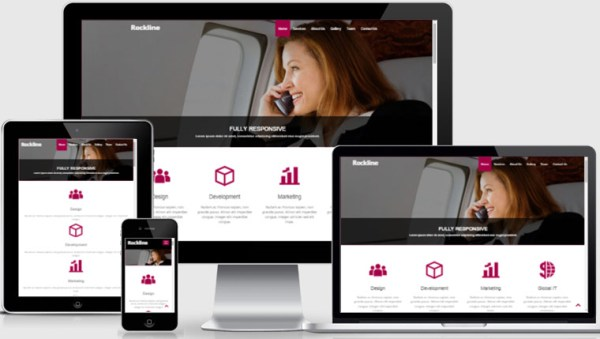 Free Bootstrap Template Rockline Business