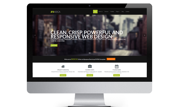 Free bootstrap 3 Responsive Template