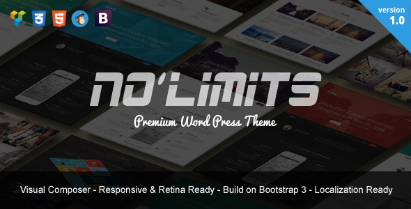 NoLimits One Page Bootstrap Responsive WordPress