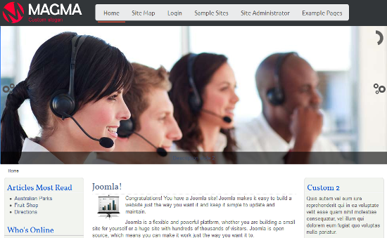 Professional Business Joomla 3.0 template with Slider