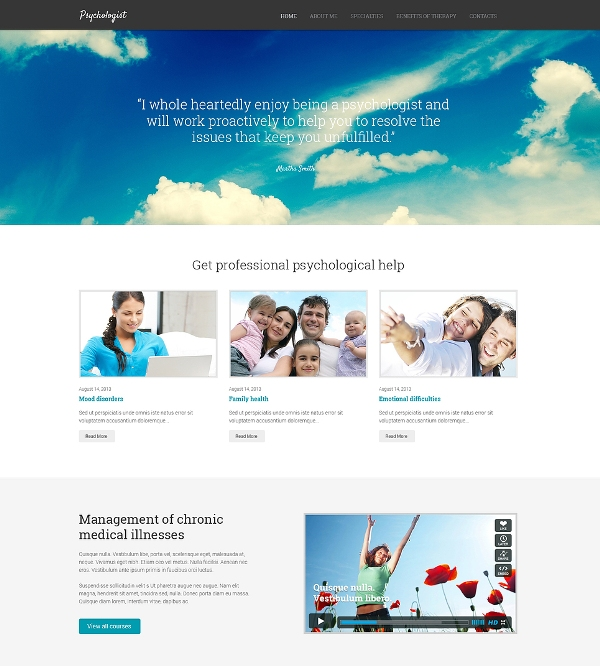 Psychologist Responsive Template