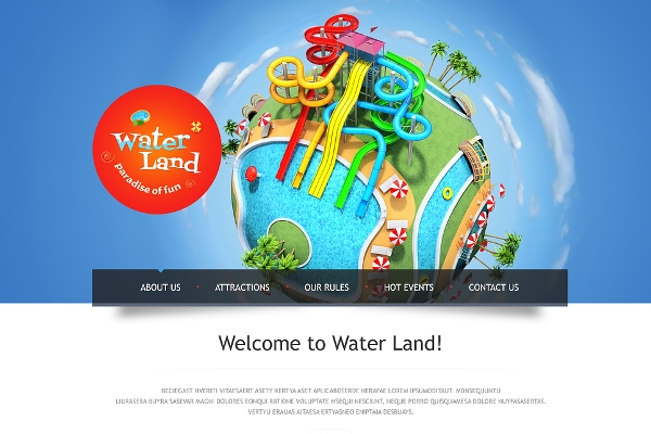 Waterpark Website Template