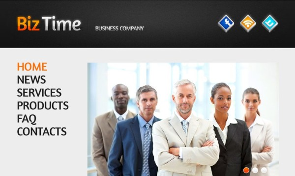 Free Biz Time Business Company HTML5 CSS3 Template