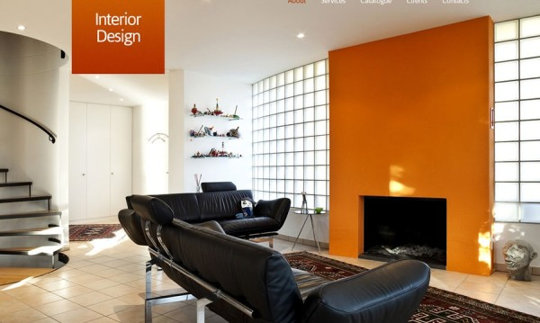 Free HTML5 CSS3 Interior Design with Image Thumbnail Viewer
