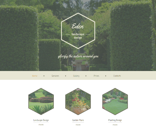 Free HTML5 Template for Exterior Design