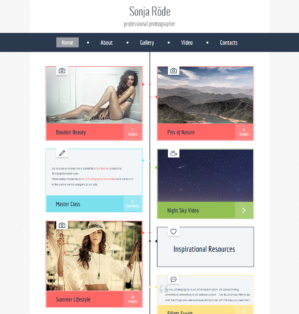 Free HTML5 Theme for Photography Site