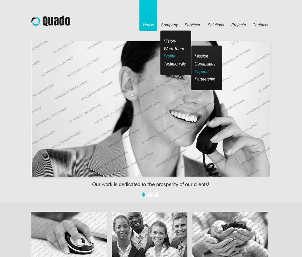 Free Responsive Business Website Template