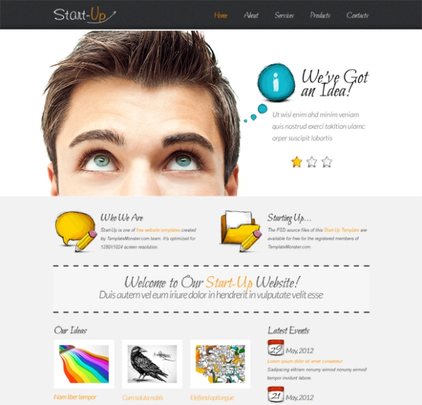 StartUp Business Template with jQuery Slideshow