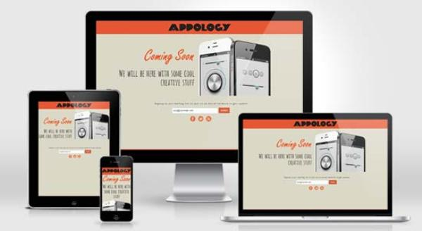 Appology Free Responsive Coming Soon Page Template