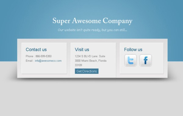 Free Coming Soon Page Template Blue Horizons