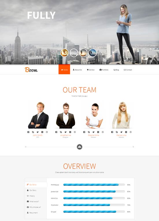 Boom-Responsive-Onepage-Drupal-Theme